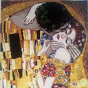 "Картины и панно handmade. Livemaster - original item Embroidered picture G.Klimt ""The Kiss"". Handmade."