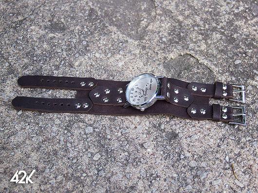 Часы ручной работы. Ярмарка Мастеров - ручная работа. Купить Часы  и ремешки кожаные. Handmade. Черный, кожа натуральная