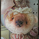 Мишки Тедди ручной работы. Заказать Мисс Валери и ее шляпка. Глафурный променад. Ярмарка Мастеров. Батист, плюш