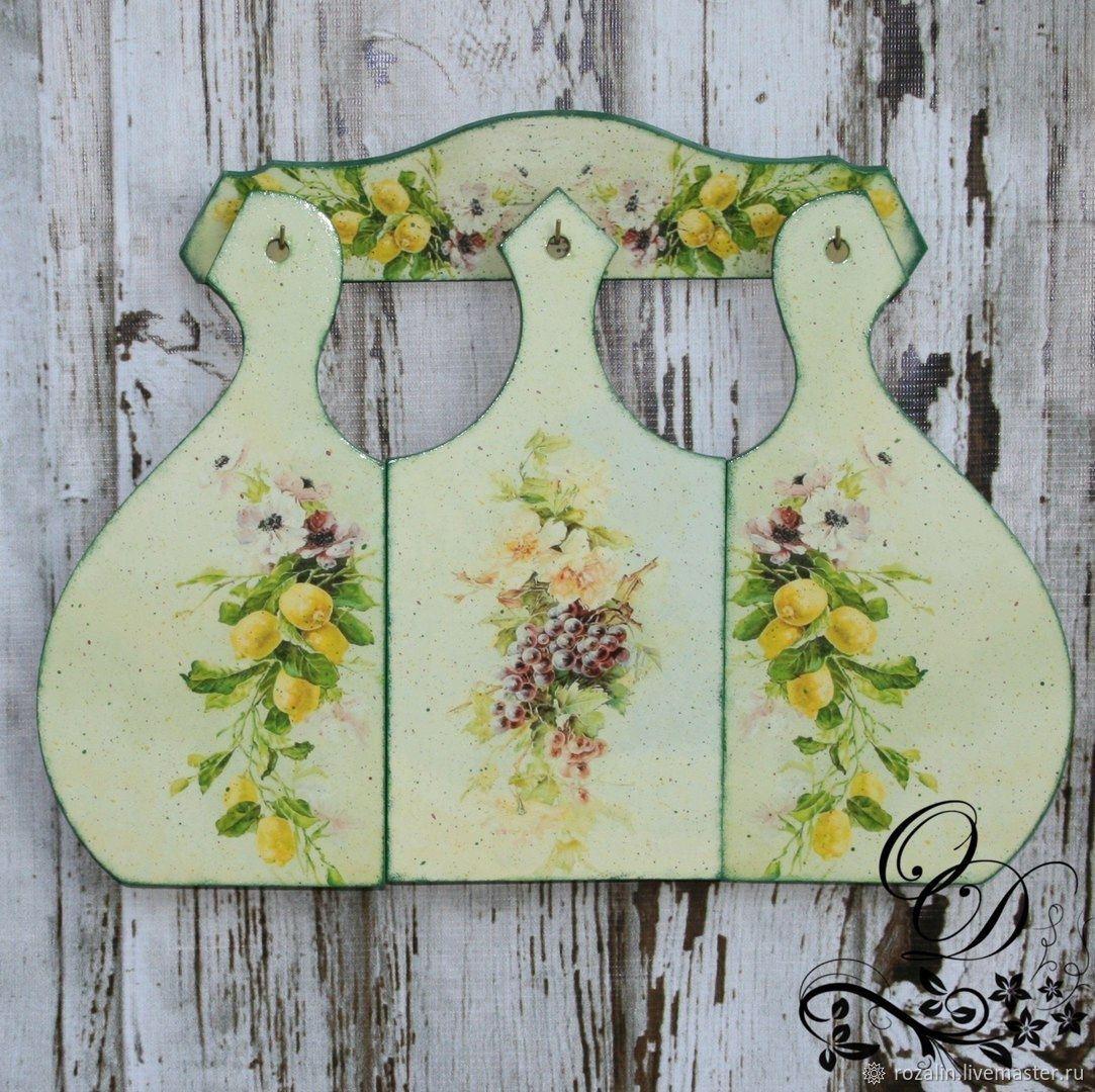 Set of cutting boards made of wood with fruit, a Gift to the hostess, Cutting Boards, Cherdyn,  Фото №1