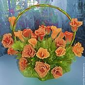 Букеты ручной работы. Ярмарка Мастеров - ручная работа букет из конфет Оранжевое чудо подарок на юбилей, день рождения,маме. Handmade.