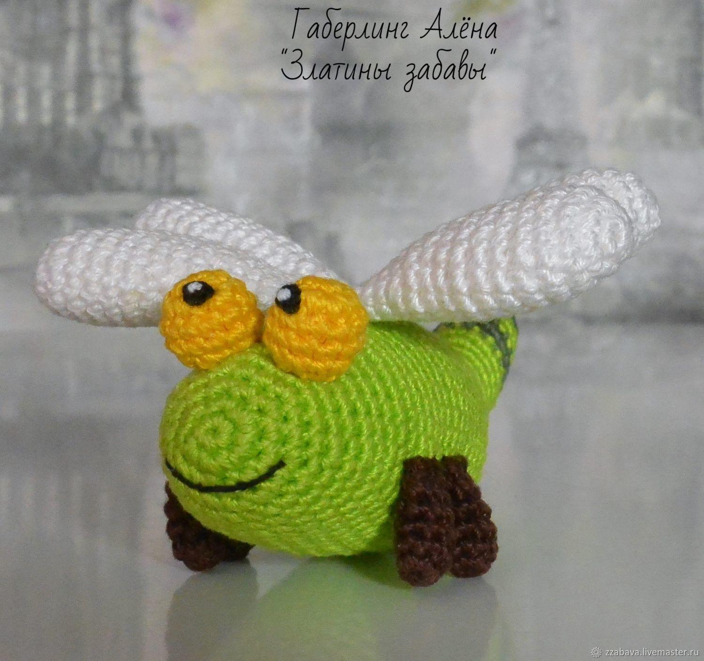 Toy dragonfly, crochet, Stuffed Toys, Tomsk,  Фото №1