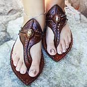 """Обувь ручной работы. Ярмарка Мастеров - ручная работа Кожаные сандалии """"Crazy Moroccan"""". Handmade."""