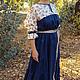 Платья ручной работы. Платье ярусное клиньями. СЛАВный стиль от Заряны. Ярмарка Мастеров. Длинное платье, народная одежда