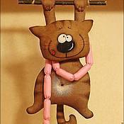 Интерьерная игрушка Кот с сосисками
