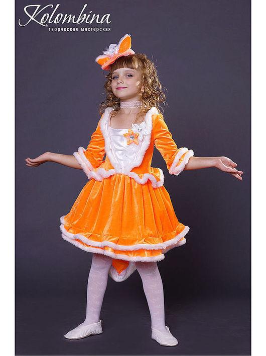 Детские карнавальные костюмы ручной работы. Ярмарка Мастеров - ручная работа. Купить карнавальный костюм лисы, лисички. Handmade. Рыжий