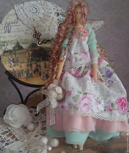 Куклы Тильды ручной работы. Ярмарка Мастеров - ручная работа. Купить Тильда ангел Камелия. Handmade. Кремовый, хлопковое кружево