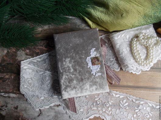 Блокноты ручной работы. Ярмарка Мастеров - ручная работа. Купить Блокнотик бархатный. Handmade. Комбинированный, блокнот, блокнот в подарок, скрап