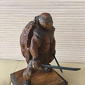 handmade. Livemaster - original item Statuette:made of wood ninja turtle. Handmade.