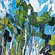 Картина природа в подарок Березовая роща Картина прогулка в лесу