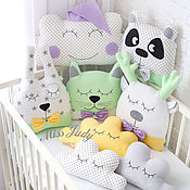Для дома и интерьера handmade. Livemaster - original item Bumpers animals for a cot. Handmade.