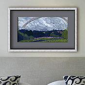 Картины ручной работы. Ярмарка Мастеров - ручная работа «Радуга» Картина акварелью лето пейзаж. Handmade.