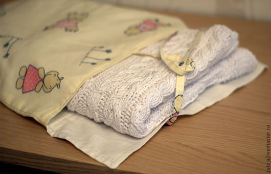 """Пледы и одеяла ручной работы. Ярмарка Мастеров - ручная работа. Купить Детский плед """"Белоснежка"""". Handmade. Белый, пледик"""