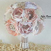 Свадебный салон handmade. Livemaster - original item Wedding brooch bouquet