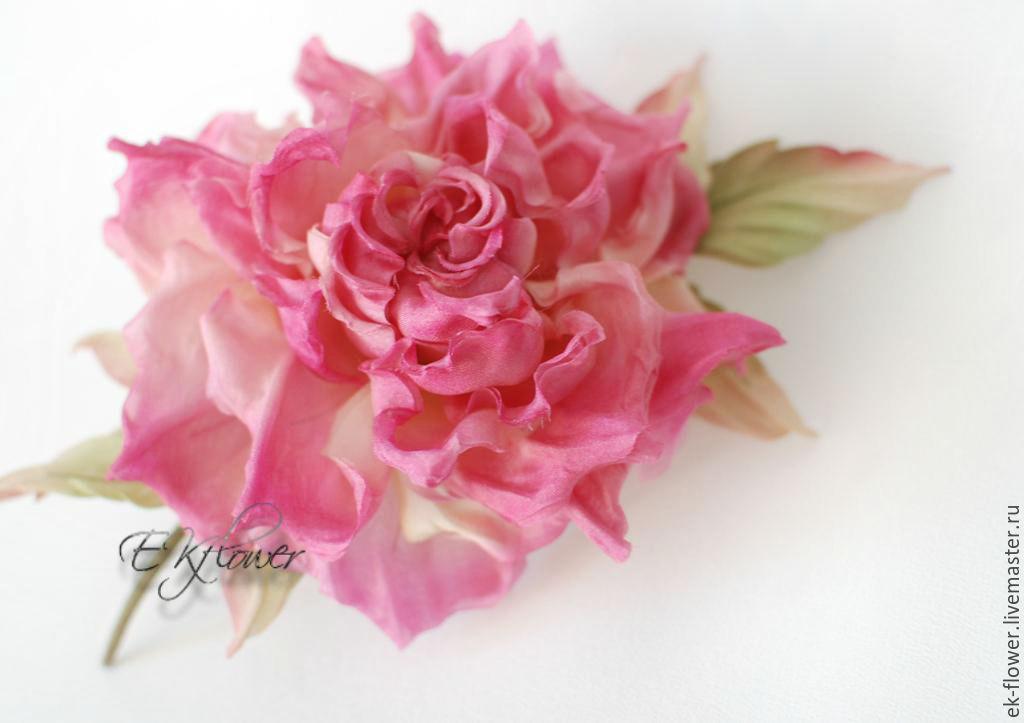 Fabric flowers silk flowers rose milenia shop online on silk flowers handmade fabric flowers silk flowers rose milenia mightylinksfo