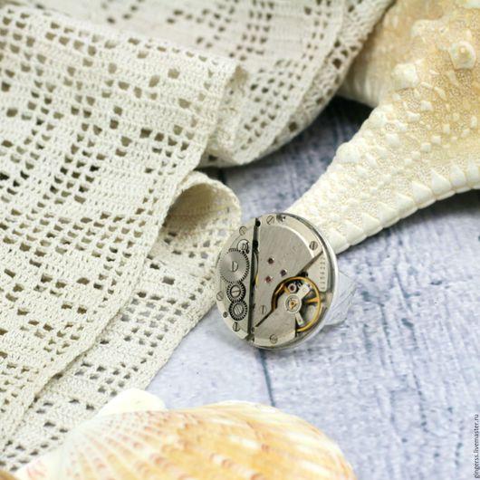 Кольца ручной работы. Ярмарка Мастеров - ручная работа. Купить Кольцо в стиле стимпанк. Handmade. Серебряный, кольца ручной работы