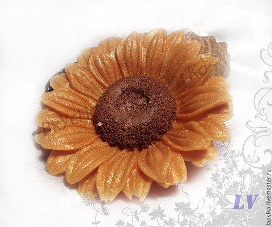 """Мыло ручной работы. Ярмарка Мастеров - ручная работа. Купить Мыло для рук """"Подсолнух"""". Handmade. 8 марта, цветок, подарок"""