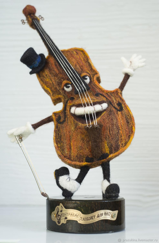 Контрабас танцует для Вас, Войлочная игрушка, Севастополь,  Фото №1