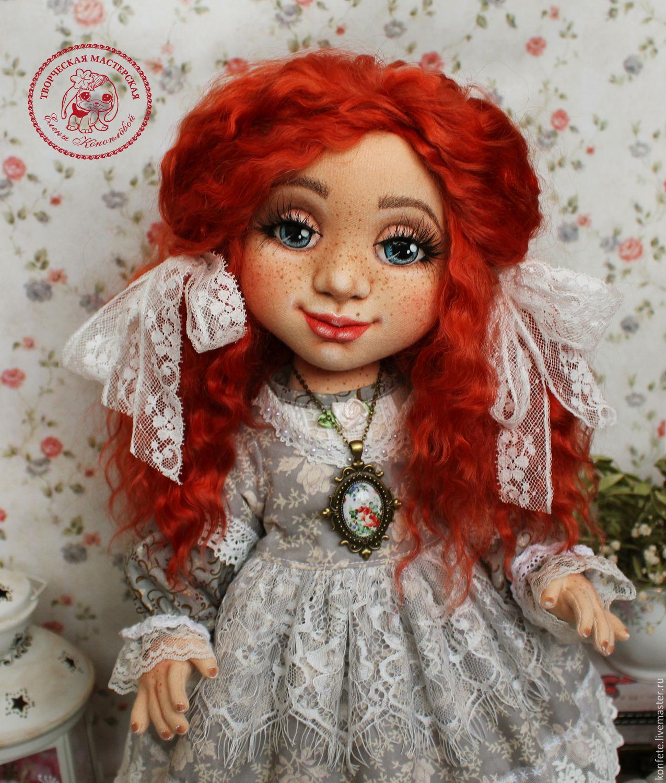 Текстильная куколка Настя, куклы своими руками