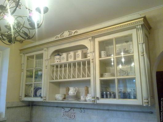 Мебель ручной работы. Ярмарка Мастеров - ручная работа. Купить мебель в кухню из ясеня на заказ. Handmade. Золотой, мебель из дерева