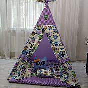 Вигвам ручной работы. Ярмарка Мастеров - ручная работа Игровой домик с совами. Handmade.