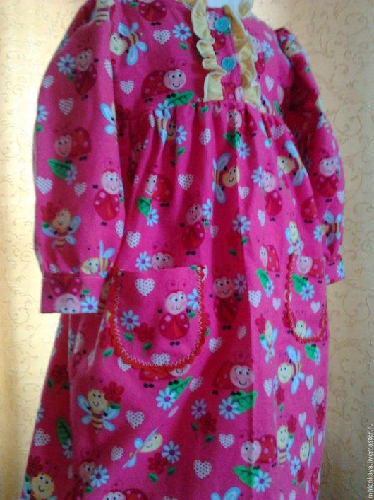 """Одежда для девочек, ручной работы. Ярмарка Мастеров - ручная работа. Купить платье  """"Майя"""" из американской фланельки на возраст 4 - 5 лет. Handmade."""
