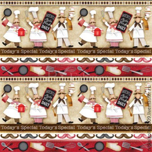 Шитье ручной работы. Ярмарка Мастеров - ручная работа. Купить Ткань для пэчворка BUON APPETITO панель. Handmade. Ткань