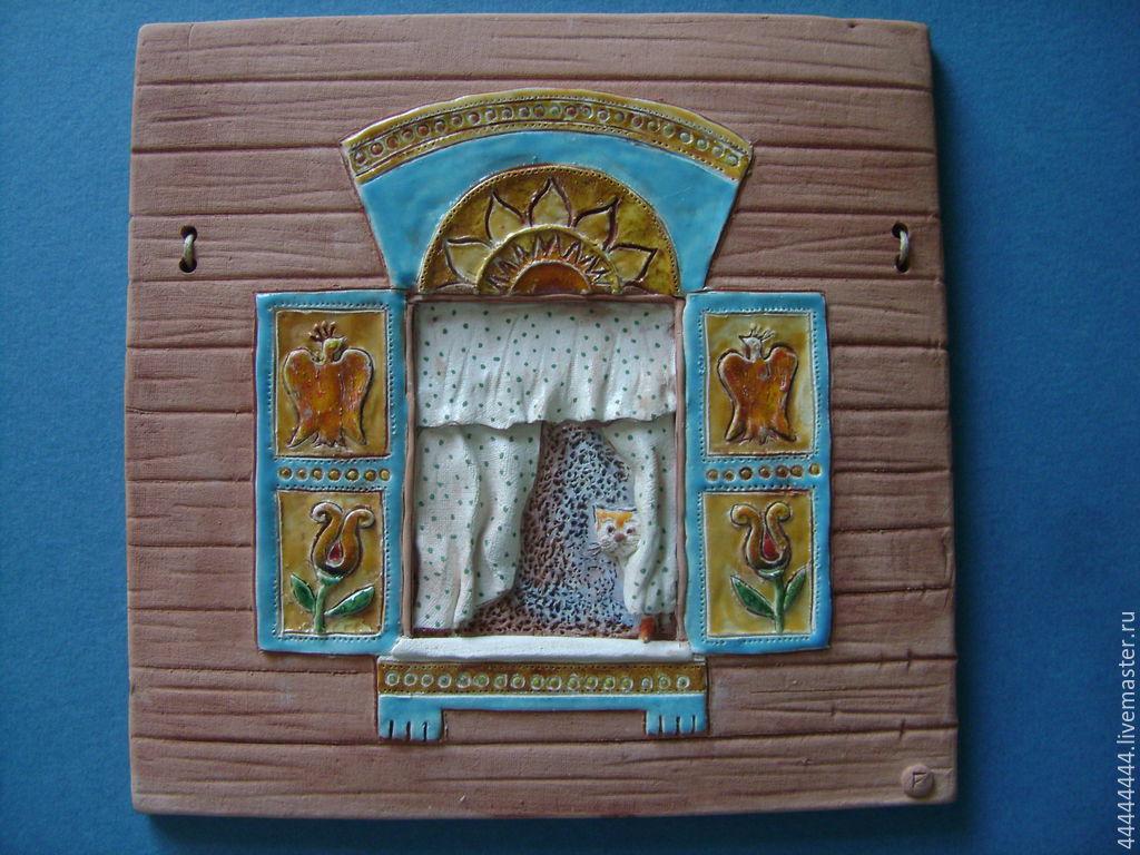 панно Сказочные окна керамика, Сувениры, Санкт-Петербург, Фото №1
