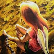 """Картины и панно ручной работы. Ярмарка Мастеров - ручная работа картина """"Закат маленького ангела"""", 2015 г. Ирина А.Новикова. Handmade."""