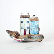 Для дома и интерьера ручной работы. Ярмарка Мастеров - ручная работа Домики на берегу driftwood. Handmade.