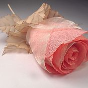 Украшения handmade. Livemaster - original item Coral rose. Brooch.. Handmade.