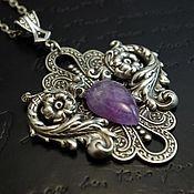 Украшения handmade. Livemaster - original item Pendant Verona Purple amethyst. Handmade.