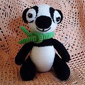 Куклы и игрушки ручной работы. Ярмарка Мастеров - ручная работа Панда -карманная игрушка. Handmade.