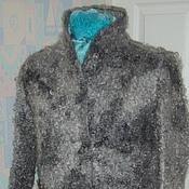 Одежда ручной работы. Ярмарка Мастеров - ручная работа Пальто из шерсти Серая каракульча. Handmade.