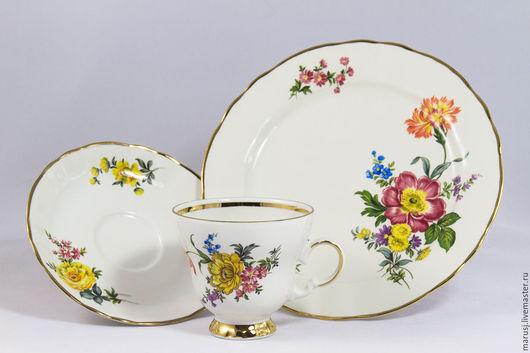 Винтажная посуда. Ярмарка Мастеров - ручная работа. Купить Кофейное (чайное) трио, Германия. Handmade. Бежевый, подарок на любой случай