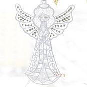 Для дома и интерьера ручной работы. Ярмарка Мастеров - ручная работа Ангел на счастье с серебряными крыльями подвеска для мобиля игрушка. Handmade.