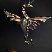 """Украшения ручной работы. Ярмарка Мастеров - ручная работа Дракон кулон """"Хранитель древней магии"""" хрусталь октариновый. Handmade."""