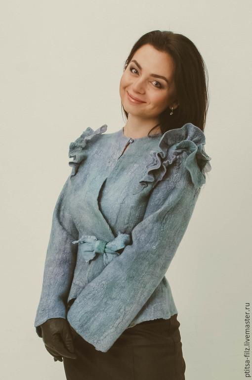 """Пиджаки, жакеты ручной работы. Ярмарка Мастеров - ручная работа. Купить Жакет """"Само совершенство"""". Handmade. Серый, модный жакет"""