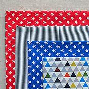 Материалы для творчества ручной работы. Ярмарка Мастеров - ручная работа Корейский хлопок ткани-компаньоны Звезды. Handmade.