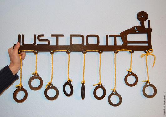 """Подарки для мужчин, ручной работы. Ярмарка Мастеров - ручная работа. Купить Подвеска  (холдер) для медалей """"просто сделай это"""". Handmade."""