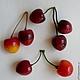 Материалы для флористики ручной работы. Ярмарка Мастеров - ручная работа. Купить Ягоды вишни. Handmade. Бордовый, вишня, ягоды вишни