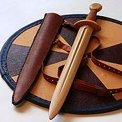 Куклы и игрушки ручной работы. Ярмарка Мастеров - ручная работа Щит и меч детские комплект 1. Handmade.