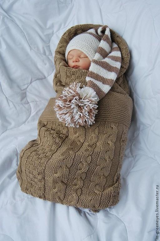 """Для новорожденных, ручной работы. Ярмарка Мастеров - ручная работа. Купить Шапочка """"Striped cap"""". Handmade. Шапка, теплая шапка"""