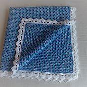 "Для дома и интерьера handmade. Livemaster - original item Blanket for the newborn ""Blue dream"". Handmade."