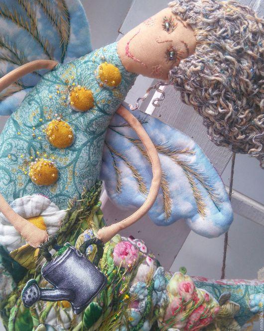 Коллекционные куклы ручной работы. Ярмарка Мастеров - ручная работа. Купить Лето и возможно ромашки...текстильная кукла феечка с леечкой. Handmade.