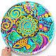 Large mandala 'Noise of the sea' decorative plate porcelain, Plates, Krasnodar,  Фото №1