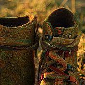 """Обувь ручной работы. Ярмарка Мастеров - ручная работа Войлочные ботинки """"Настроение"""". Handmade."""