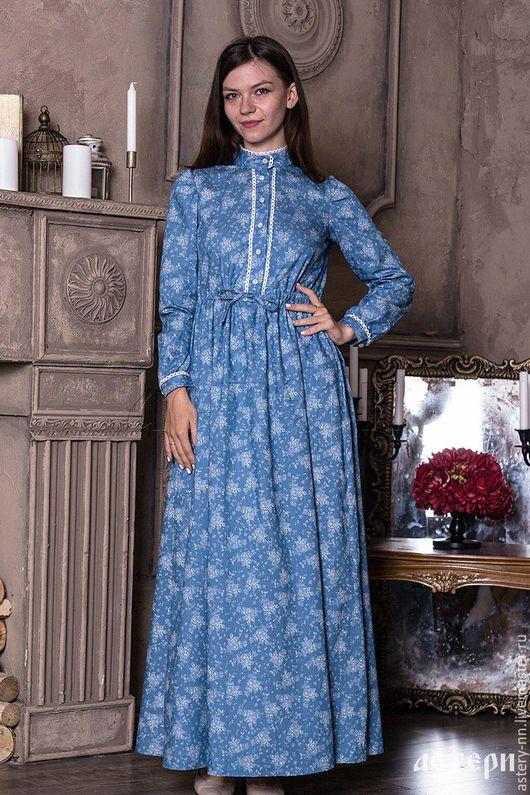 """Платья ручной работы. Ярмарка Мастеров - ручная работа. Купить Платье """"ГОЛУБЫЕ РОЗЫ"""". Handmade. Голубой, платье вечернее"""