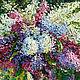 Картины цветов ручной работы. Ярмарка Мастеров - ручная работа. Купить Весна в саду. Handmade. Сирень, весеннее настроение, мастихин