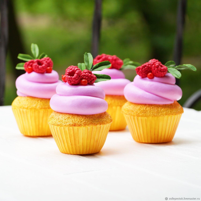 cupcake with raspberries. Dummies, Stuffed Toys, Rostov-on-Don,  Фото №1